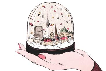 """Illustration de Roland Garrigue pour le livre ELLE REPONDIT: """"BERLIN, BABY!"""" d'Amélie Vrla"""